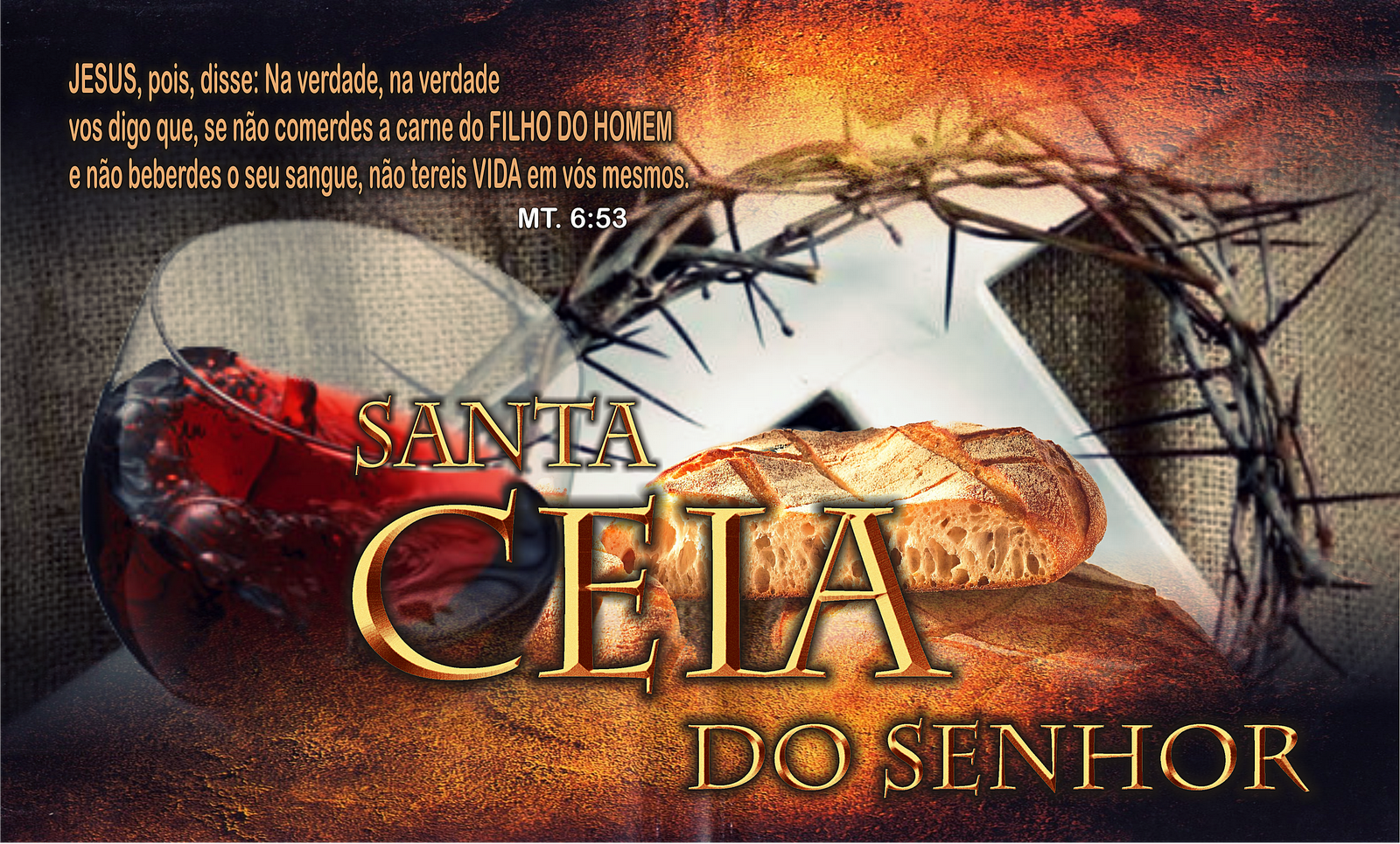 Santa Ceia de Abril – Domingo 19/04/2015